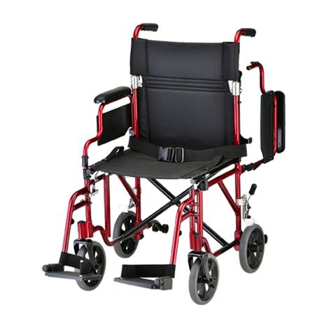 Buy Nova Medical 19 Inches Lightweight Transport Chair With Detachable Desk Arm And Swing Away Footrests