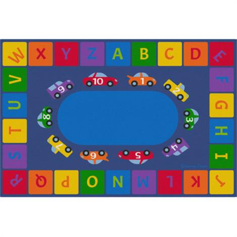 Childrens Factory Alphabet Cars Educational Rugs
