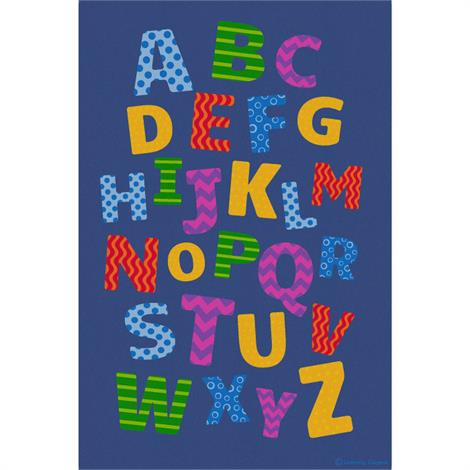 Alphabet Scramble Educational Rugs