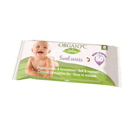 Organyc Sweet Caress Baby Wipes