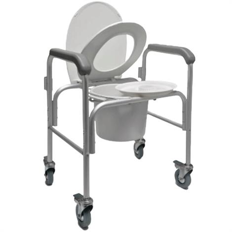Buy Graham-Field Three-in-one Aluminium Commode With Backbar and Casters