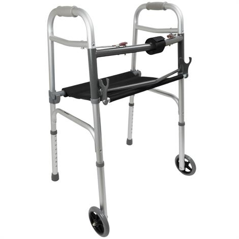 Buy ProBasics Aluminum Two-Button Release Folding Walker For Adult