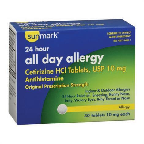 Buy McKesson Allergy Relief Cetrizine Tablet