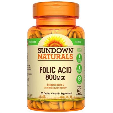 SunDown Organics Folic Acid Vitamin Supplement