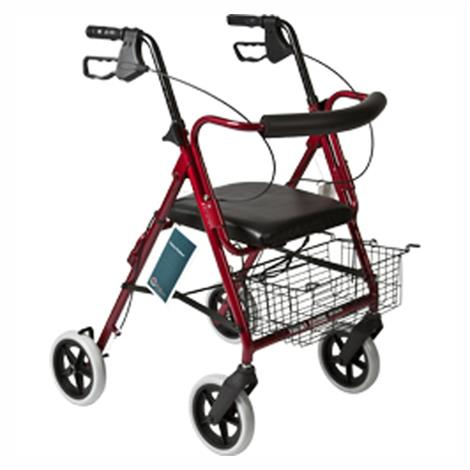 ITA-MED Four Wheel Aluminum Rollator With Loop Brakes and Curved Backrest