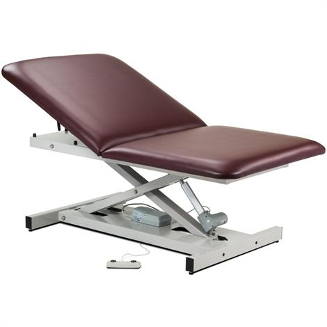 Clinton Open Base Extra Wide Bariatric Power Exam Table with Adjustable Backrest