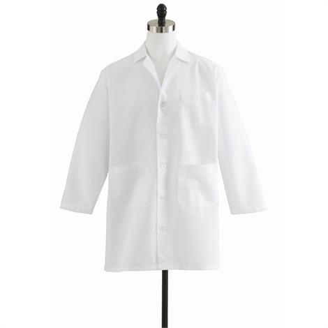 Medline Men Staff Length White Lab Coat
