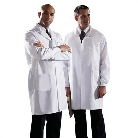Medline Men Poplin Staff Length Lab Coat