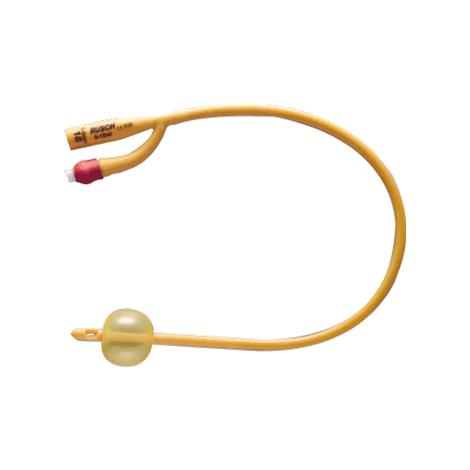 Rusch Gold Two-Way Silicone Elastomer Coated Latex Foley Catheter - 30cc Balloon Capacity