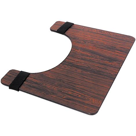 Essential Medical Deluxe Rosewood Wheelchair Tray