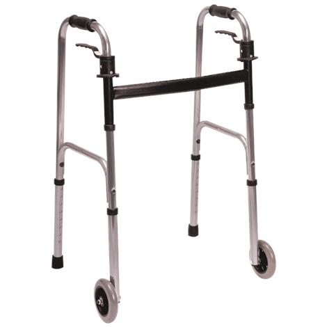 Essential Medical Endurance Fixed Wheels Trigger Release Walker