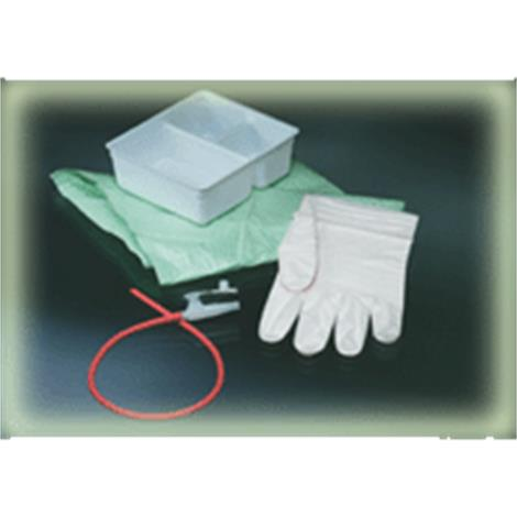 Bard Tracheal Suction Latex Red Rubber Catheter Tray With Two Gloves