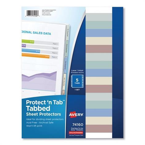 Buy Avery Protect n Tab Tabbed Sheet Protectors