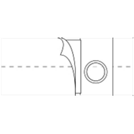 Nu-Hope Original Flat Panel 6 Inches (15.2cm) Wide Left Sided Stoma Regular Elastic Support Belt