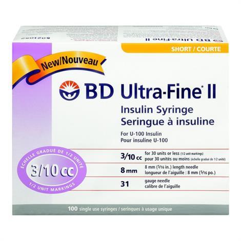 BD Ultra-Fine Short Needle Insulin Syringe