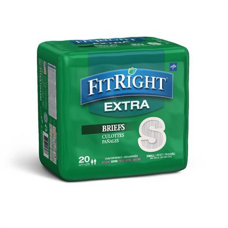 Medline FitRight Extra Clothlike Adult Briefs