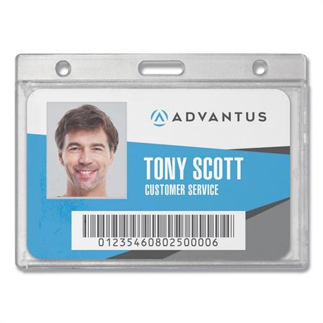Buy Advantus Frosted Rigid Badge Holders
