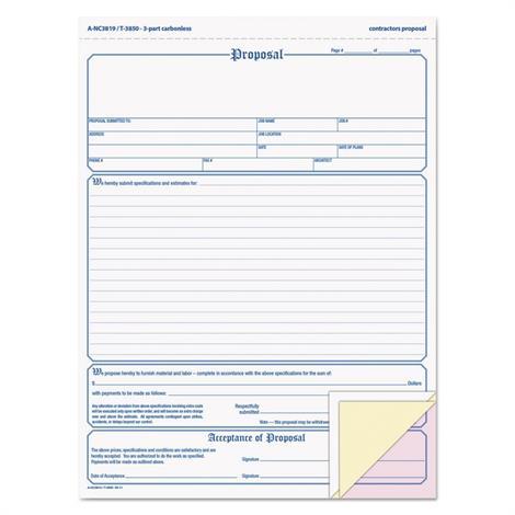 Buy Adams Contractor Proposal Form
