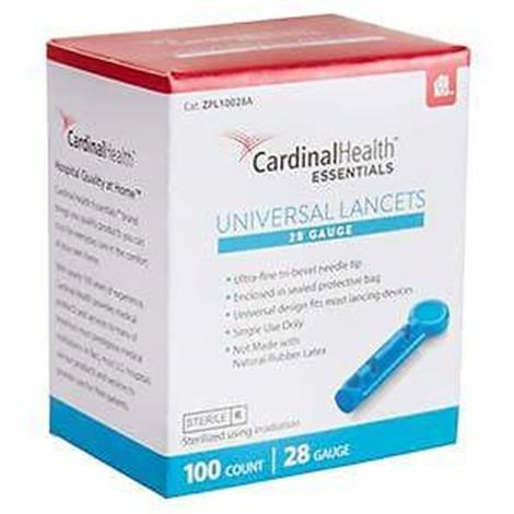 Cardinal Health Essentials Universal Safety Seal Lancet 30G