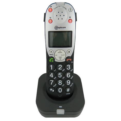 Amplicom USA PowerTel 701 Extender Amplified DECT Cordless Accessory Handset