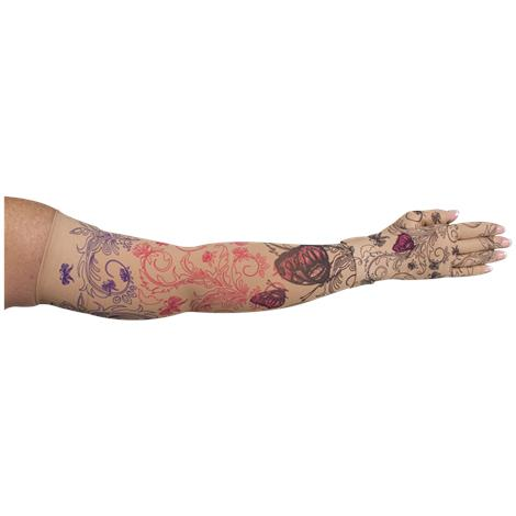 LympheDivas Mariposa Beige Compression Arm Sleeve And Glove
