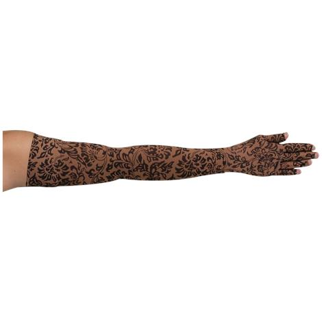 LympheDivas Damask Mocha Compression Arm Sleeve And Glove