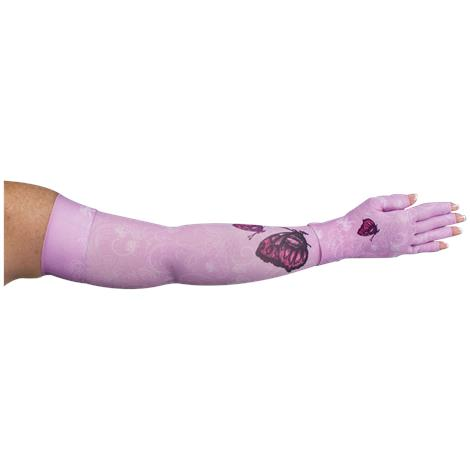 LympheDivas Mariposa Pink Compression Arm Sleeve And Glove