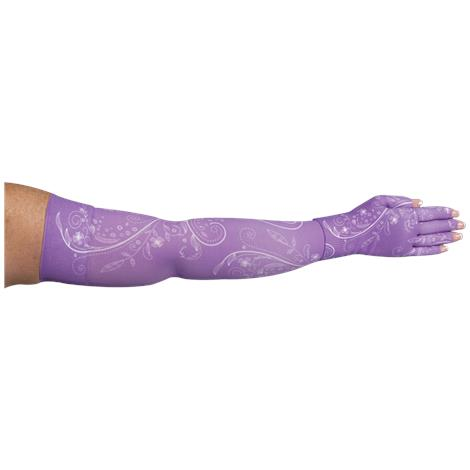 LympheDivas Firefly Purple Compression Arm Sleeve And Glove
