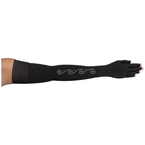 LympheDivas Onyx With Crystal Swirl Compression Arm Sleeve And Glove