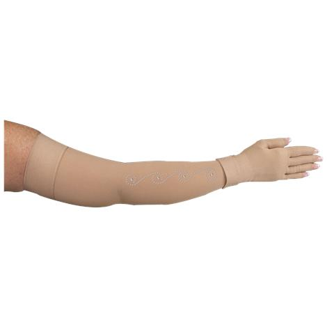 LympheDivas Bei Chic With Crystal Swirl Compression Arm Sleeve And Glove