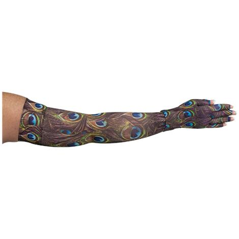 LympheDivas Peacock Compression Arm Sleeve And Glove