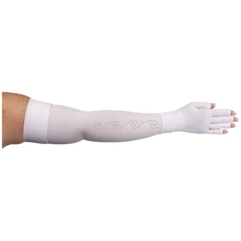 LympheDivas White With Crystal Swirl Compression Arm Sleeve And Glove