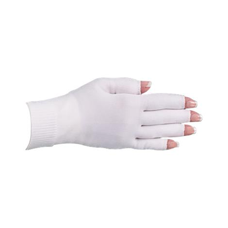 LympheDivas White With Crystal Ribbon Compression Glove