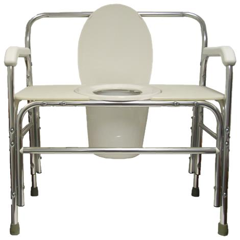 ConvaQuip Bariatric Bedside Fixed Arm Commode