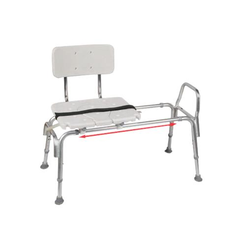 Snap N Save Sliding Transfer Bench with Padded Cut Out ...