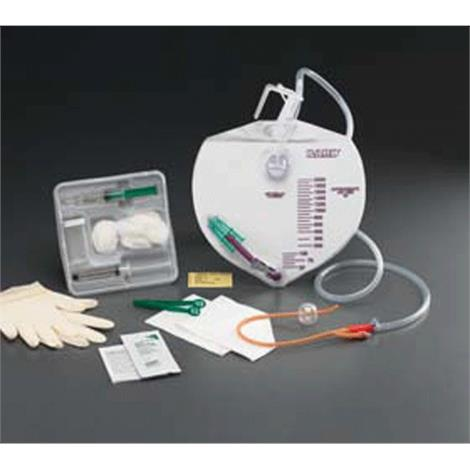 Bard Bardex I.C. Drainage Bag Foley Tray With 16FR Coude Catheter