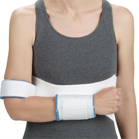 DeRoyal Velpeau Shoulder Immobilizer with Hook and Loop Closure