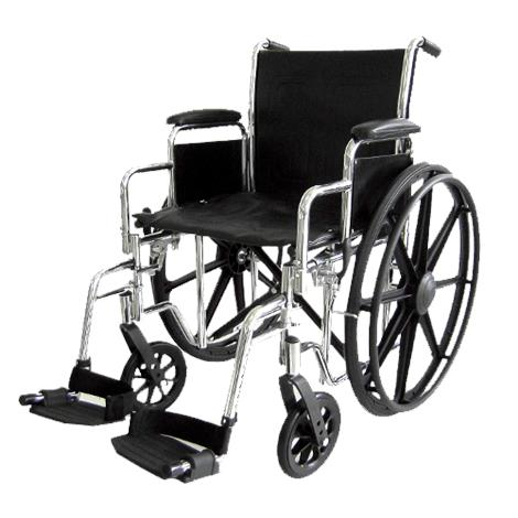 ITA-MED 16 Inch Premium Wheelchair with Chrome Plated Frame