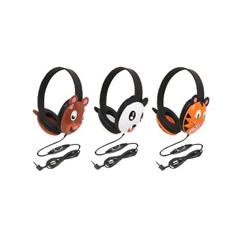 Califone Listening First Animal Themed Wired Stereo Headphones