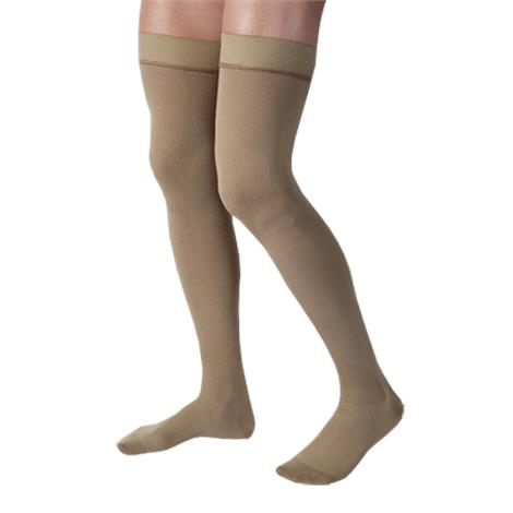 BSN Jobst For Men Closed Toe Thigh High 20-30mmHg Ribbed Compression Stockings