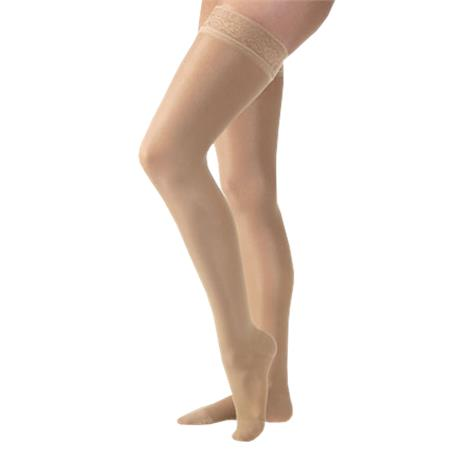 BSN Jobst Ultrasheer 20-30mmHg Closed Toe Thigh High Firm Compression Stockings - Silicone Dot Band