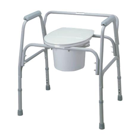 Medline Bariatric Steel Commode