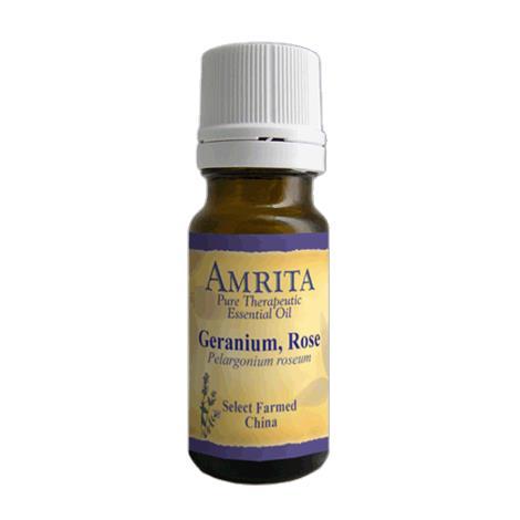 Amrita Aromatherapy Pure Therapeutic Geranium Rose Essential Oil