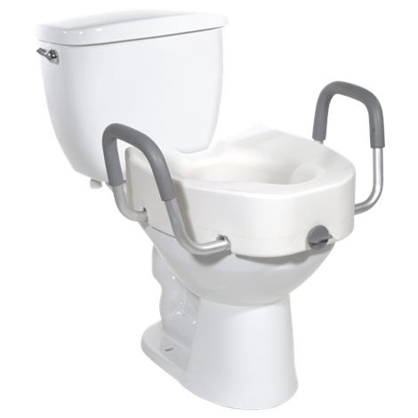 Drive Premium Plastic Elevated Regular or Elongated Toilet Seat With Lock