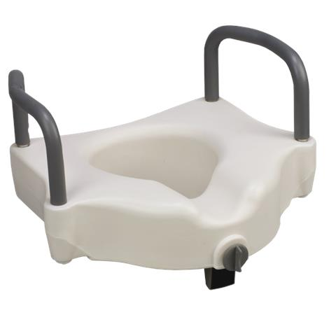 Mabis DMI Hi Riser Locking Raised Toilet Seat With Arms