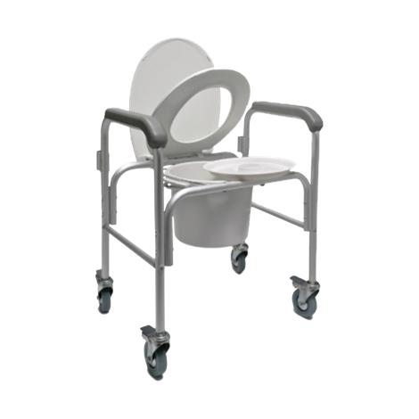 Graham-Field Three-in-one Aluminium Commode With Backbar and Casters