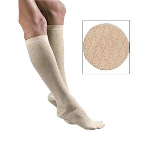 FLA Orthopedics Activa Sheer Therapy 15-20mmHg Womens Patterned Dress Socks With Cross Hatch Pattern