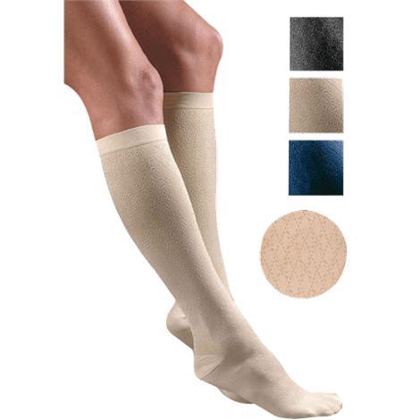 FLA Orthopedics Activa Sheer Therapy 15-20mmHg Womens Patterned Dress Socks with Diamond Pattern