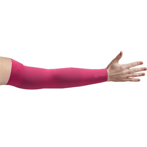 LympheDivas Fuchsia With Crystal Ribbon Compression Arm Sleeve
