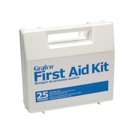 Graham-Field Stocked First Aid Plastic Kit With Dividers For 25 Persons